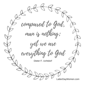 compared to God, man is nothing; yet we are everything to God